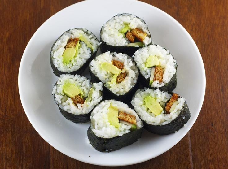 Sriracha Baked Tofu Sushi | Cooking | Pinterest