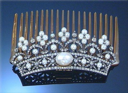 Diamond Hair Combs at Sotheby's | Barbaraanne's Hair Comb Blog