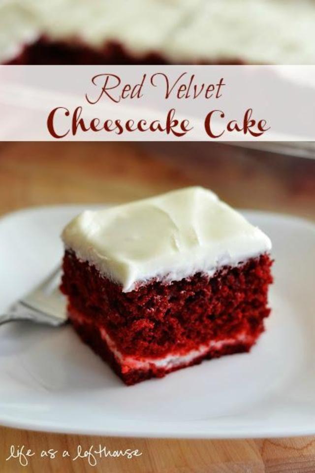 Red velvet cheesecake cake | Yum | Pinterest