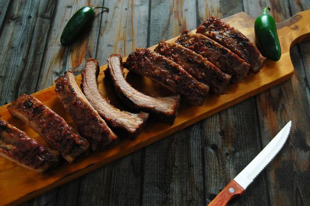 ... Blackberry Baby Back Ribs with Blackberry Jalapeno Sauce #bbq #spicy