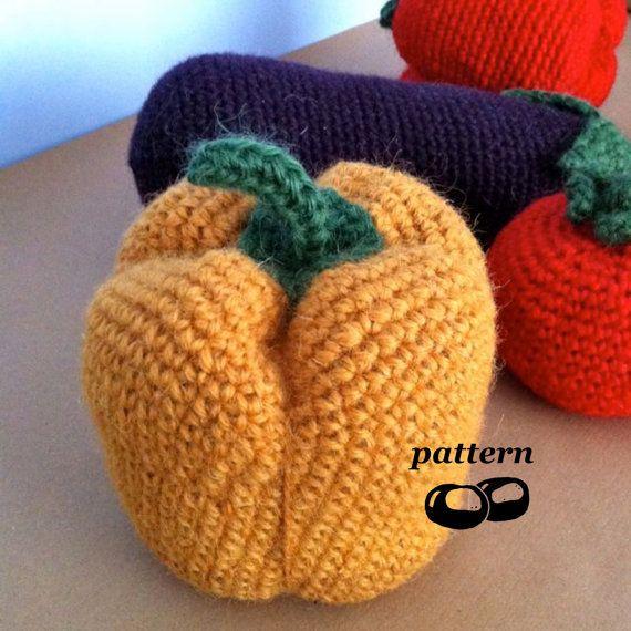 Crochet Vegetable Patterns / Giant Crochet Vegetables / Extra Large V ...