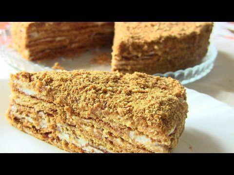 Медовик с песочными коржами рецепт
