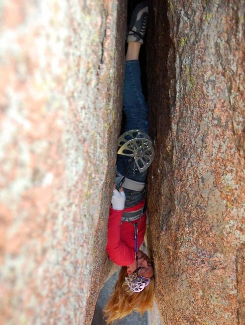 Pamela Pack on Lucille 5.13a. Amazing. #climbing