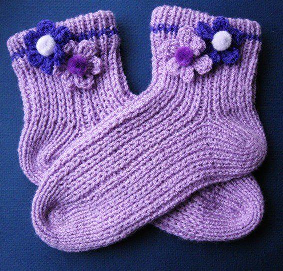 Easy, Quick Slipper Socks PDF pattern knitting Pinterest