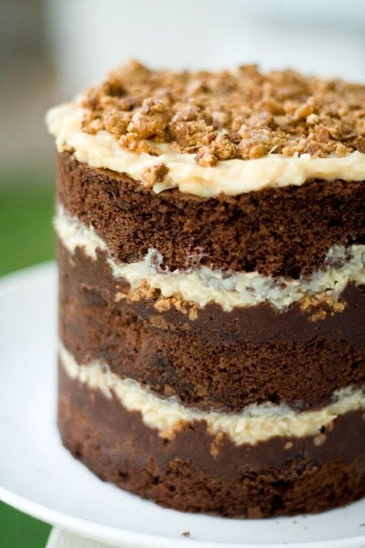 momofuku inspired german chocolate with double chocolate cake layers ...