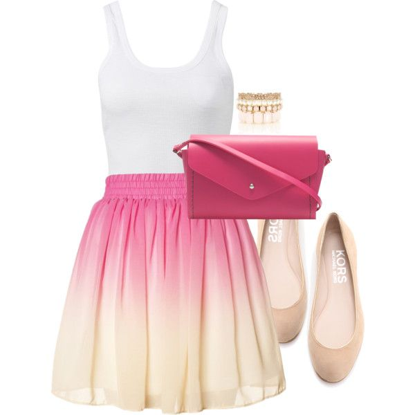 Pink Ombre Skirt :)