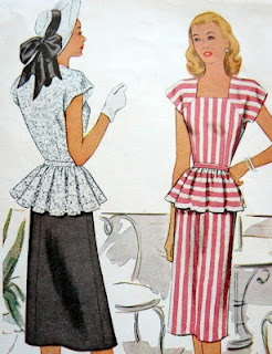 Vintage patterns look a little like today tops!