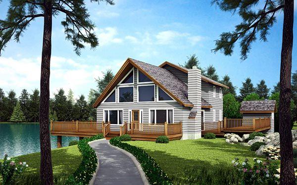 A Frame Cabin Contemporary House Plan 10515