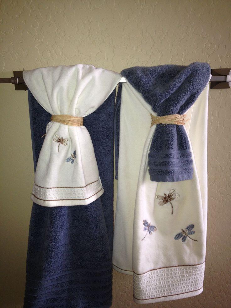 Bathroom towel display bathroom pinterest - How to display towels in bathroom ...