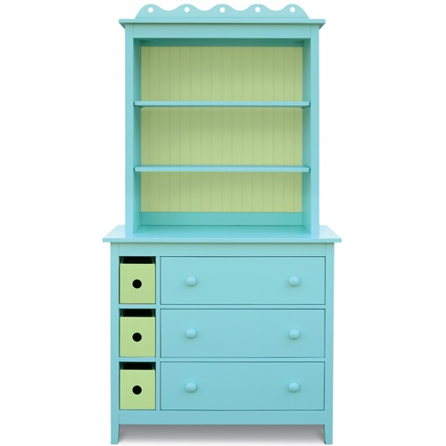 dresser with bookcase hutch