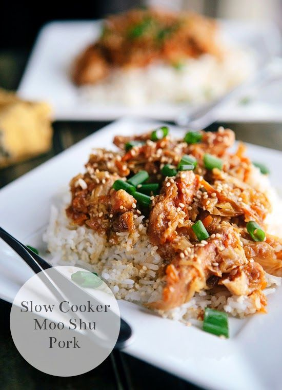 Slow Cooker Moo Shu Pork - simply throw everything in the crock pot ...