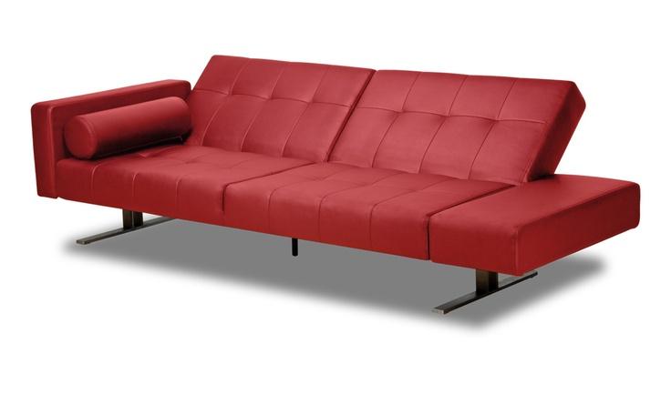 Red Leather Sofa Bed Style Awakened Pinterest
