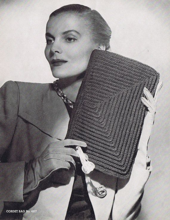 Vintage Crochet Clutch Pattern : Vintage Crochet Clutch Pattern+PDF+by+VintagePatternPlace,+$2.99