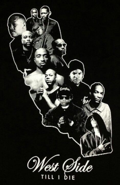 Cali love  Real rap music West Coast Rappers Poster