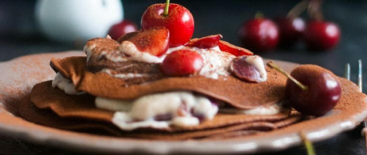 Chocolate Cherry Black Forest Pancakes | Yummly