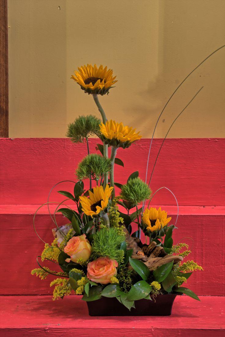 Beautiful sunflower arrangement flower arrangements