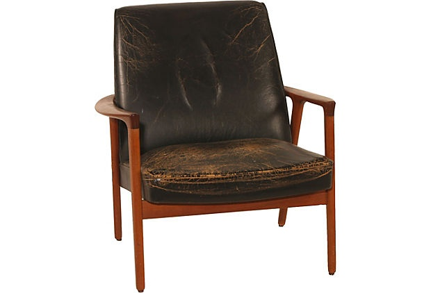 Mid Century Modern Leather Chair For the cottage