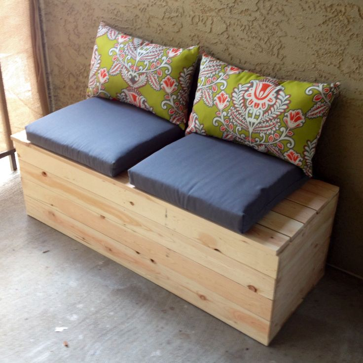 DIY storage bench for the balcony | Garden | Pinterest