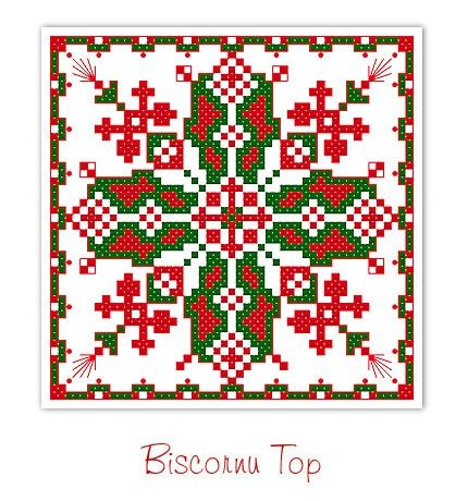 Cross Stitch Pattern Biscornu Christmas Three Holiday Original Design PDF. $7.00, via Etsy.