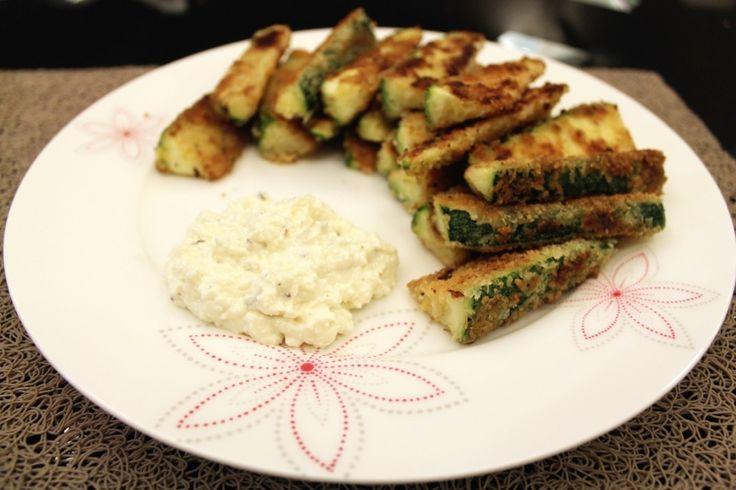 Zucchini Fries with Feta Dip | gotta try it | Pinterest