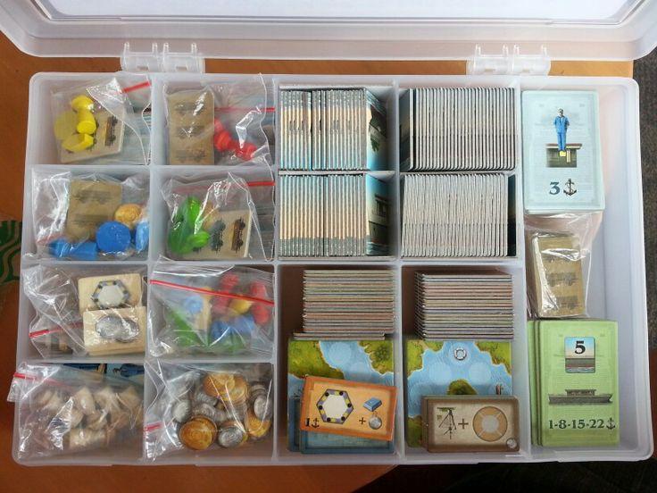Shipyard storage solution board games pinterest for Board game storage solutions
