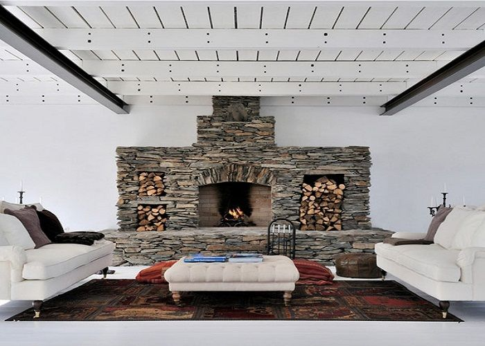 stunning diy stone fireplace design