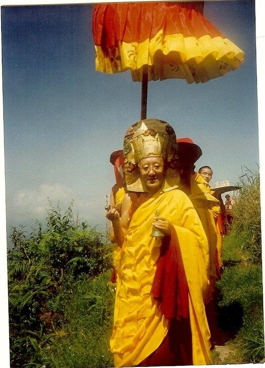 With Kyabje Dorje Chang Bokar Rinpoche.