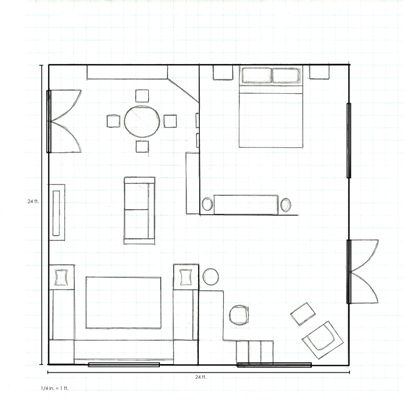 Floor plan of garage conversion garage conversion for Convert image to blueprint online