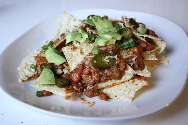 Chorizo, Bean, And Cheese Nachos | Food and drinks | Pinterest
