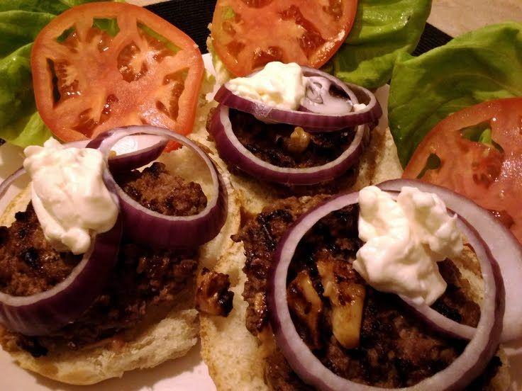"Garlic Lovers Burgers! ""A great taste of garlic from roasted garlic ..."