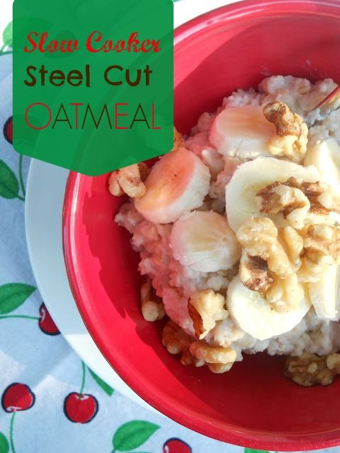 Slow Cooker Steel Cut Oatmeal {Ally's Sweet and Savory Eats}