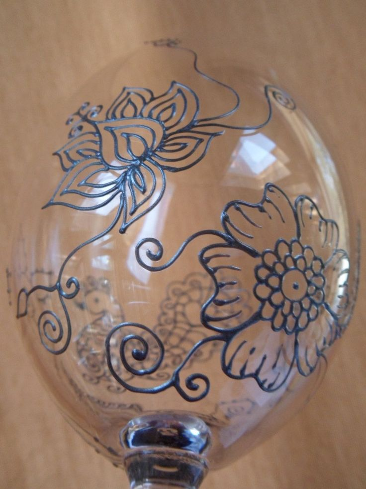 Wedding Gift Glass Painting : ... Mehndi Glass via Etsy. Wedding glassware, anniversary, birthday gift