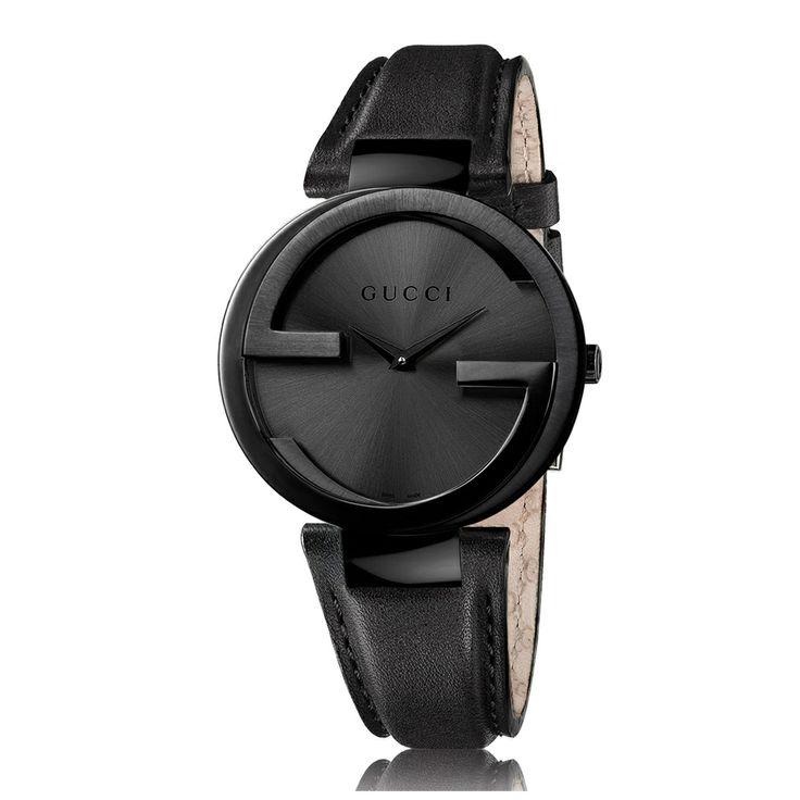 gucci s ya133302 black steel leather