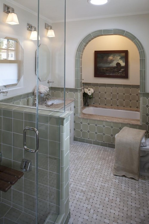arch and inset tub