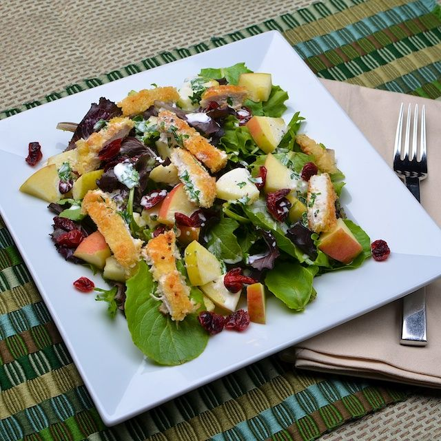 Crispy Chicken and Apple Salad - perfect in the fall when there's an ...