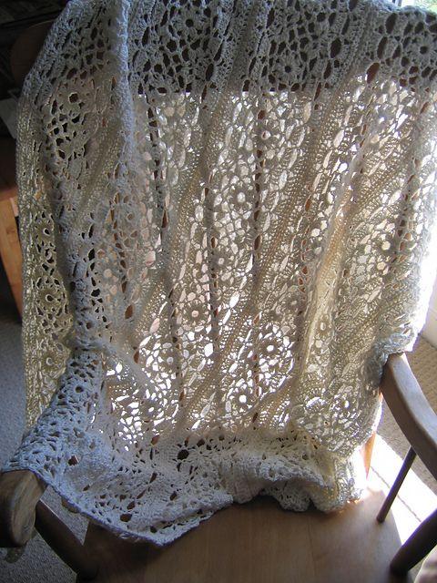 Irish Lace Crochet Afghan Pattern : Irish Lace blanket, crochet. CrochetT?pper Pinterest