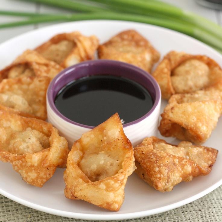 Fried Pork and Shrimp Wontons   Shrimp Appetizer   Pinterest