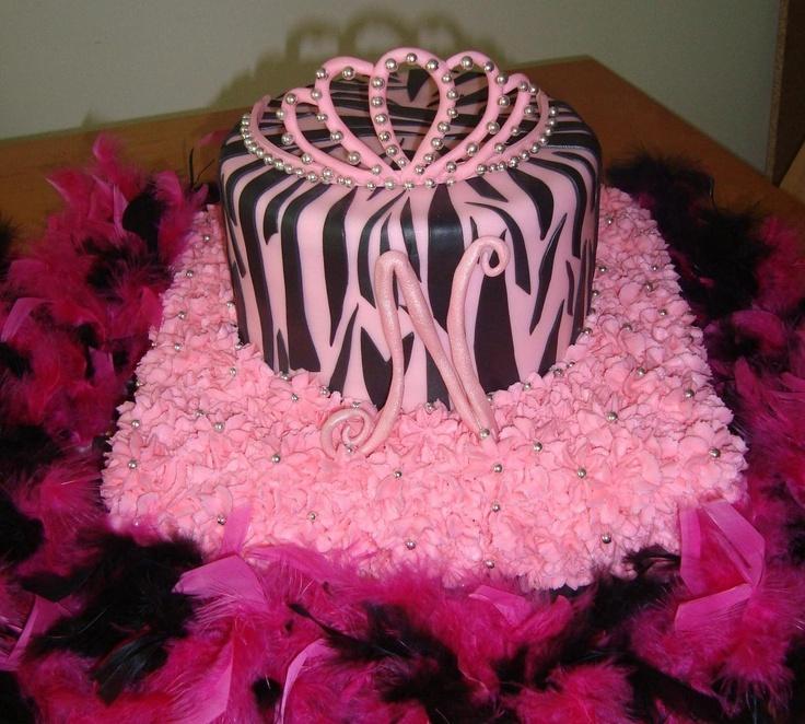 Zebra Cake Decorating Tips : Pink & Black Zebra Print Cake Cake Decorating Ideas ...