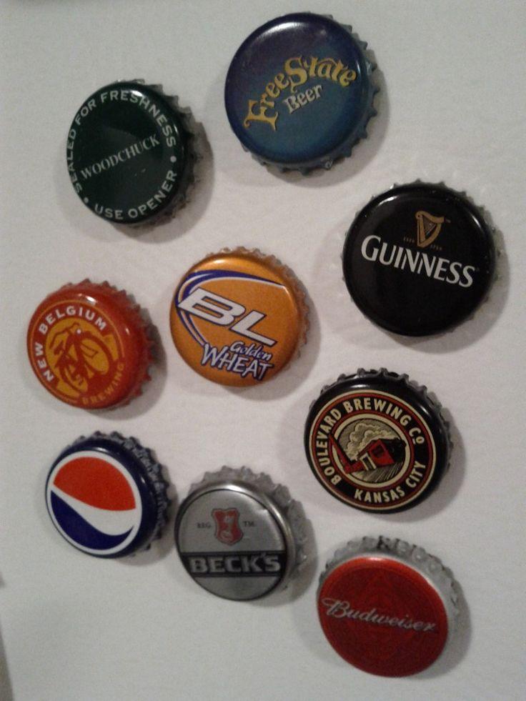 Bottle caps as magnets crafts diy pinterest for Bottle cap hat diy