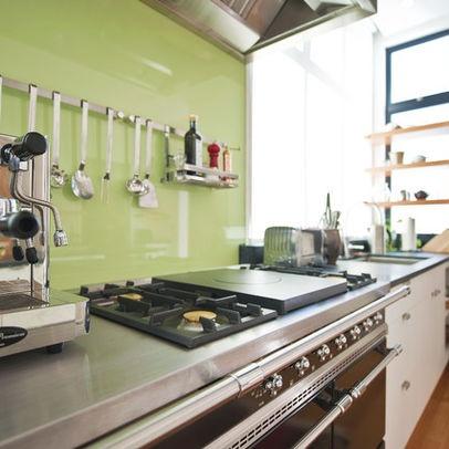 backpainted glass backsplash diy project kitchen 2012