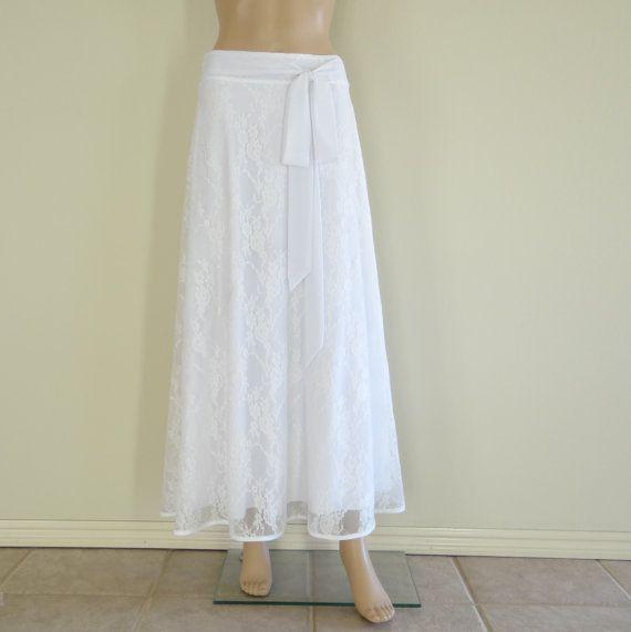 lace skirt white maxi skirt