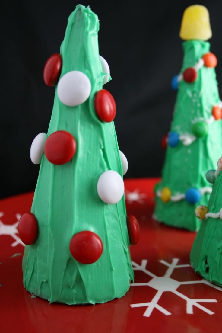 Christmas Tree Craft Ice Cream Cone : Ice cream cone christmas trees winter