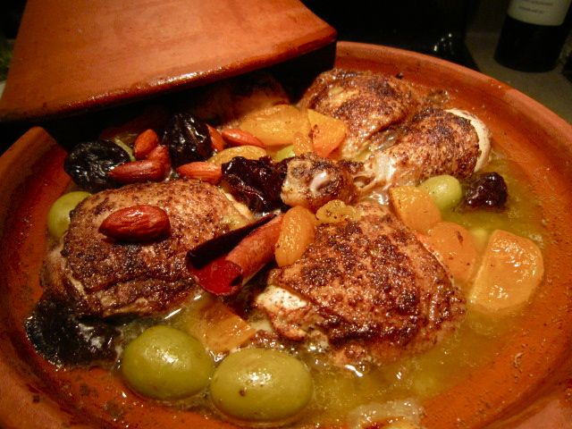 Moroccan Chicken Tagine with Prunes and Almonds - gentlemangourmet The ...