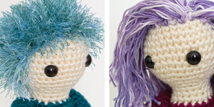 Making Hair for Your Amigurumi Amigurumi tips and tricks Pinterest