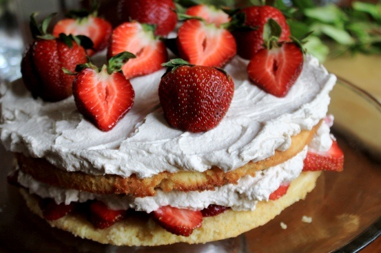 black pepper shortcake with balsamic strawberry whipped cream from ...