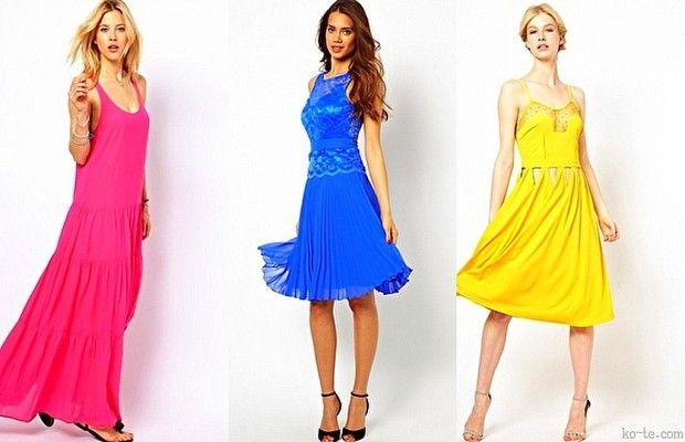Летние платья ярких оттенков