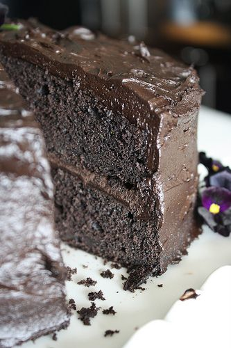 chocolate zucchini cake. Yummy. The best use of the zucchinis from the ...