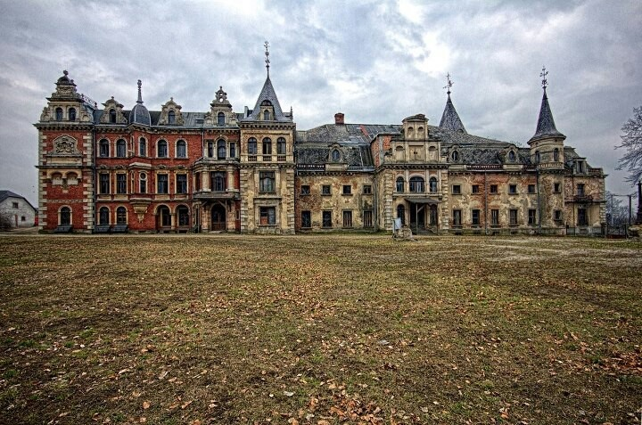 abandoned palace in poland abandoned pinterest