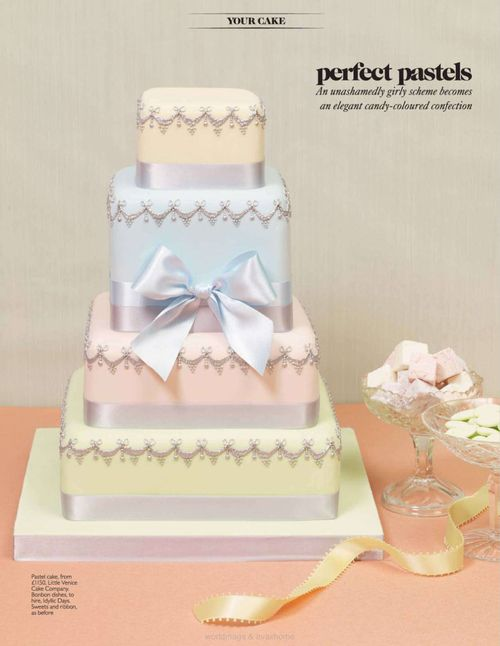 Pastel Wedding Cake Party Decorations And Ideas Pinterest
