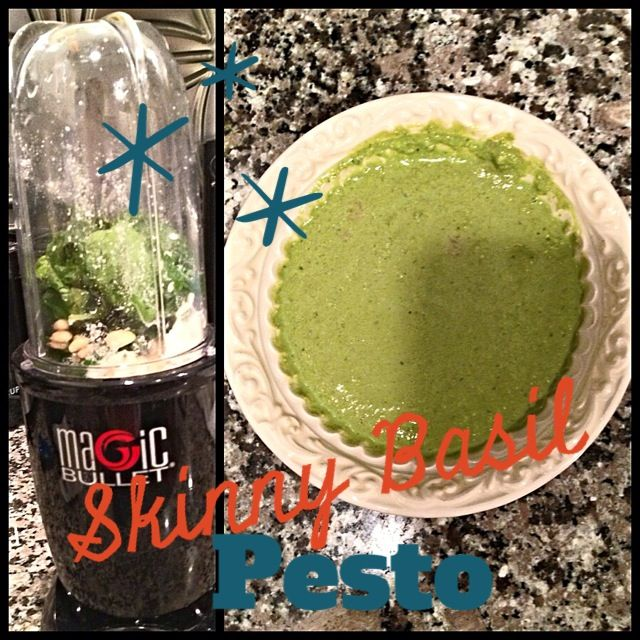 Skinny, Low Calorie Basil Pesto Recipe | Fit Girl Fuel | Pinterest